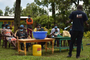 The Water Project: Nangurunya Community, Robert Musali Spring -  Training Session
