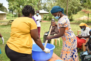 The Water Project: Nangurunya Community, Robert Musali Spring -  Participating In Soapmaking