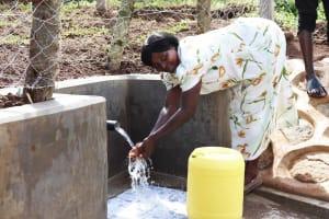 The Water Project: Nangurunya Community, Robert Musali Spring -  Washing Hands