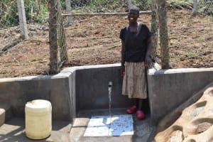 The Water Project: Nangurunya Community, Robert Musali Spring -  At The Water Point