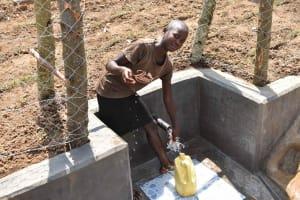 The Water Project: Nangurunya Community, Robert Musali Spring -  At The Water