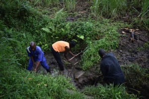 The Water Project: Bukhakunga Community, Wakukha Spring -  Site Clearance