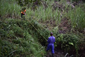 The Water Project: Bukhakunga Community, Wakukha Spring -  Site Measurements