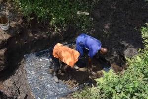 The Water Project: Bukhakunga Community, Wakukha Spring -  Foundation Slab