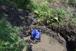 The Water Project: Bukhakunga Community, Wakukha Spring -  Slab Setting