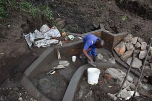 The Water Project: Bukhakunga Community, Wakukha Spring -  Building Stairs
