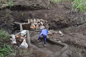 The Water Project: Bukhakunga Community, Wakukha Spring -  Stair Construction
