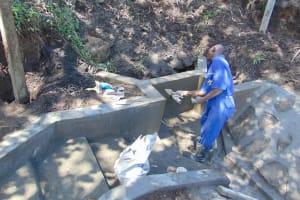 The Water Project: Bukhakunga Community, Wakukha Spring -  Plastering
