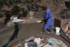 The Water Project: Bukhakunga Community, Wakukha Spring -  Smoothing Plaster