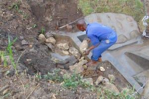 The Water Project: Bukhakunga Community, Wakukha Spring -  Backfilling