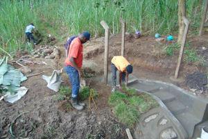 The Water Project: Bukhakunga Community, Wakukha Spring -  Grass Planting