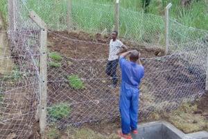 The Water Project: Bukhakunga Community, Wakukha Spring -  Fencing
