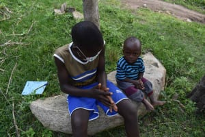 The Water Project: Bukhakunga Community, Wakukha Spring -  Everyone Handwashing