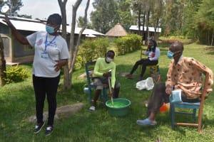 The Water Project: Bukhakunga Community, Wakukha Spring -  Mixing Soap