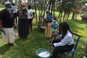 The Water Project: Bukhakunga Community, Wakukha Spring -  Soap Making
