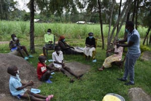 The Water Project: Bukhakunga Community, Wakukha Spring -  Trying It Out