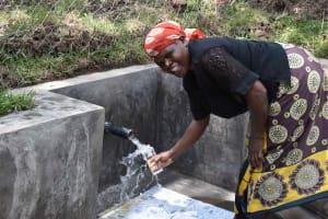 The Water Project: Bukhakunga Community, Wakukha Spring -  Fanice Fetching Water