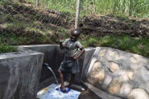 The Water Project: Bukhakunga Community, Wakukha Spring -  Girl With Glass