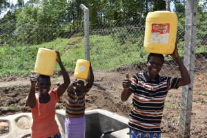 The Water Project: Shamoni Community, Shiundu Spring -  Thumbs Up