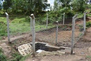 The Water Project: Shamoni Community, Shiundu Spring -  All Done