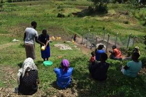 The Water Project: Shamoni Community, Shiundu Spring -  Handwashing Demonstration