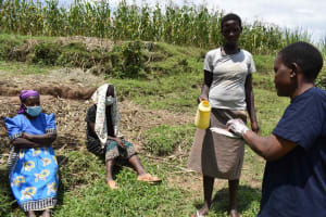 The Water Project: Shamoni Community, Shiundu Spring -  Handwashing