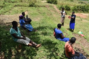 The Water Project: Shamoni Community, Shiundu Spring -  Mask Making