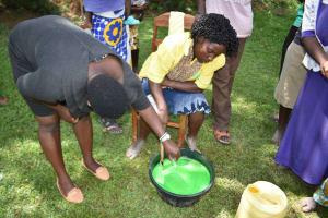 The Water Project: Shamoni Community, Shiundu Spring -  Soap Almost Done