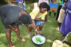 The Water Project: Shamoni Community, Shiundu Spring -  Soap Mixing
