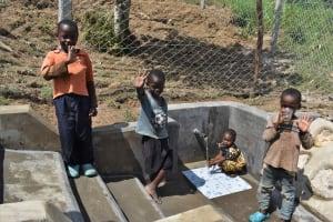 The Water Project: Shamoni Community, Laban Ang'ata Spring -  Children At Spring