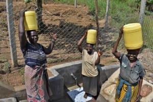 The Water Project: Shamoni Community, Laban Ang'ata Spring -  Smiling Ladies