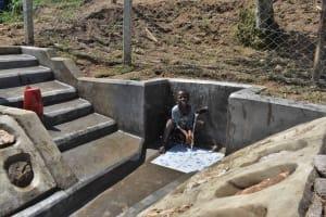 The Water Project: Shamoni Community, Laban Ang'ata Spring -  Splashing