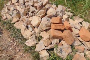 The Water Project: Shamoni Community, Laban Ang'ata Spring -  Stone Ready To Go