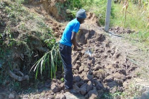 The Water Project: Shamoni Community, Laban Ang'ata Spring -  Excavation