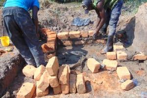 The Water Project: Shamoni Community, Laban Ang'ata Spring -  Brickwork Ongoing