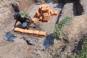 The Water Project: Shamoni Community, Laban Ang'ata Spring -  Brickwork
