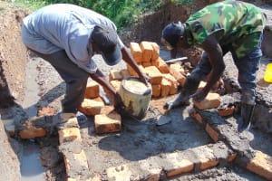 The Water Project: Shamoni Community, Laban Ang'ata Spring -  Walls In Progress