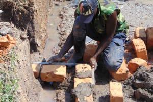 The Water Project: Shamoni Community, Laban Ang'ata Spring -  Walls Taking Shape