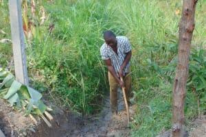 The Water Project: Shamoni Community, Laban Ang'ata Spring -  Drainage Channel