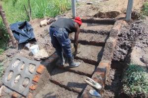The Water Project: Shamoni Community, Laban Ang'ata Spring -  Stairs In Progress