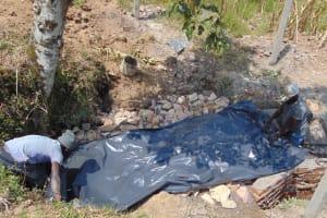 The Water Project: Shamoni Community, Laban Ang'ata Spring -  Plastic