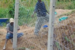 The Water Project: Shamoni Community, Laban Ang'ata Spring -  Fencing