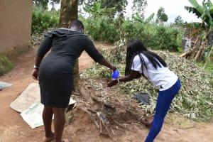 The Water Project: Shamoni Community, Laban Ang'ata Spring -  Handwashing