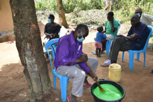 The Water Project: Shamoni Community, Laban Ang'ata Spring -  Soap Almost Done