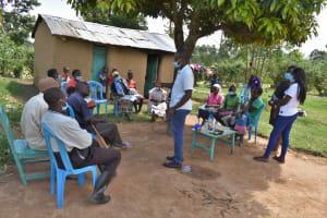 The Water Project: Shamoni Community, Laban Ang'ata Spring -  Training In Progress