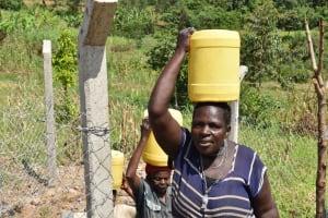 The Water Project: Shamoni Community, Laban Ang'ata Spring -  Heading Home