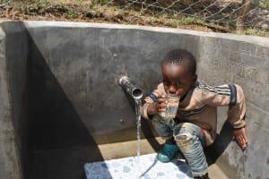 The Water Project: Shamoni Community, Laban Ang'ata Spring -  Quenching Thirst
