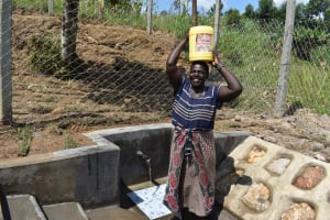 The Water Project: Shamoni Community, Laban Ang'ata Spring -  So Much Easier
