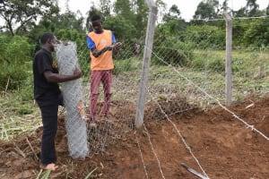 The Water Project: Mundoli Community, Pamela Atieno Spring -  Fencing