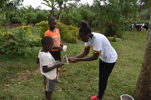 The Water Project: Mundoli Community, Pamela Atieno Spring -  Dental Care Training